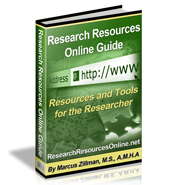 Research Resources Online Guide 235 Page Digital Publication by Marcus P. Zillman, M.S., A.M.H.A. ... The Latest Research Resources and Tools by clicking here